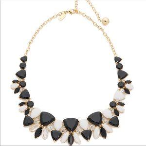 kate spade Twinkle Lights Black White Bib necklace